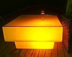 LED Square coffee table modern coffee tables