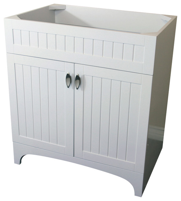 32 inch single sink vanity wood white cabinet only