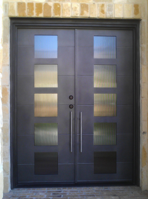 Modern Iron Door Modern Front Doors Other Metro By