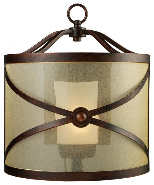 One Light Classic Bronze Outdoor Wall Light craftsman-outdoor-wall-lights-and-sconces