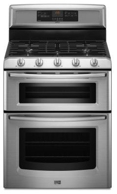 Maytag Range Gemini 6 Cu Ft Double Oven Gas Range With Self Cleaning Conve