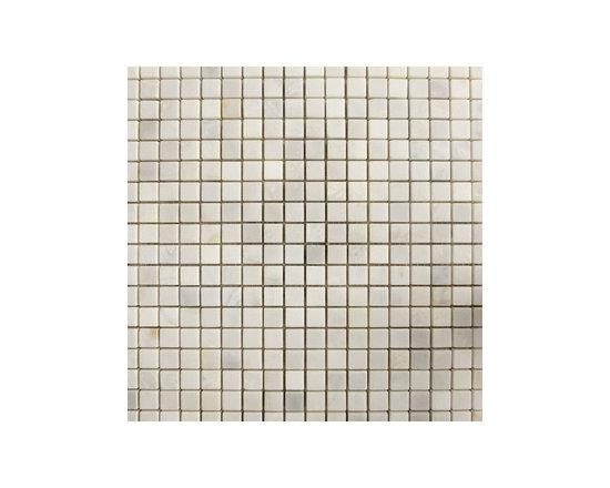 "1.5""x1.5"" Versailles White Polished Natural Stone Mosaic -"
