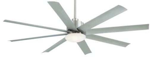 Mink Aire Slipstream Ceiling Fan in Brushed Nickel Wet contemporary-ceiling-fans