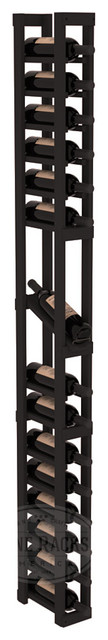 1 Column Display Row Cellar Kit in Pine with Black Stain traditional-wine-racks