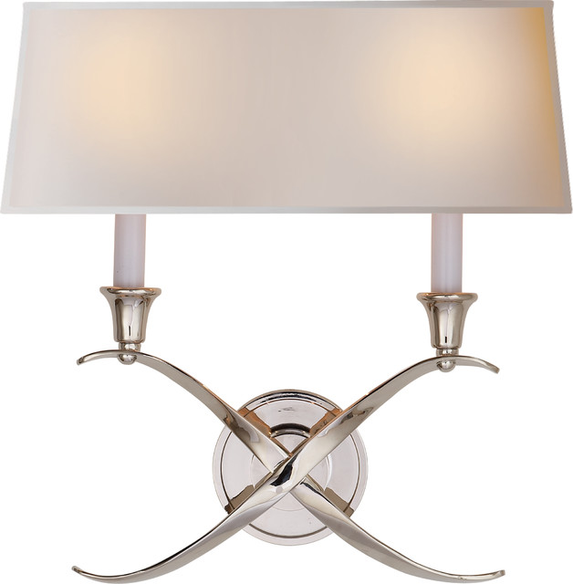 Cross Bouillotte Sconce Transitional Wall Sconces By