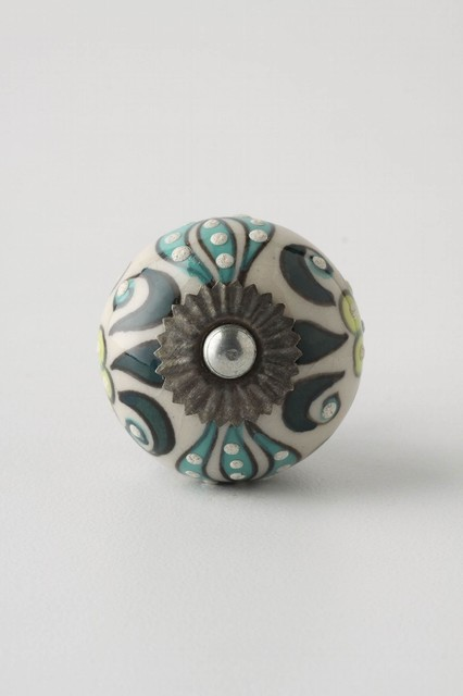 Elevated Zinnia Knob  eclectic knobs