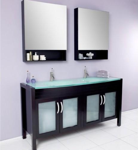 Fresca Infinito Espresso 67-in. Modern Double Sink Bathroom Vanity & Medicin contemporary-bathroom-vanities-and-sink-consoles