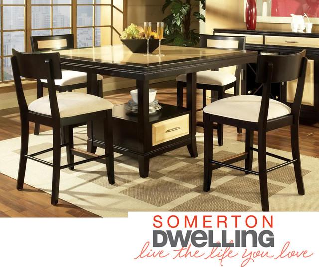 Somerton Dwelling Milan 7 Piece Dining Set Contemporary