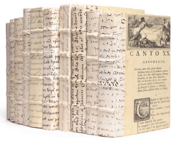 Linear Foot of Antique Vellum Script Books traditional-books