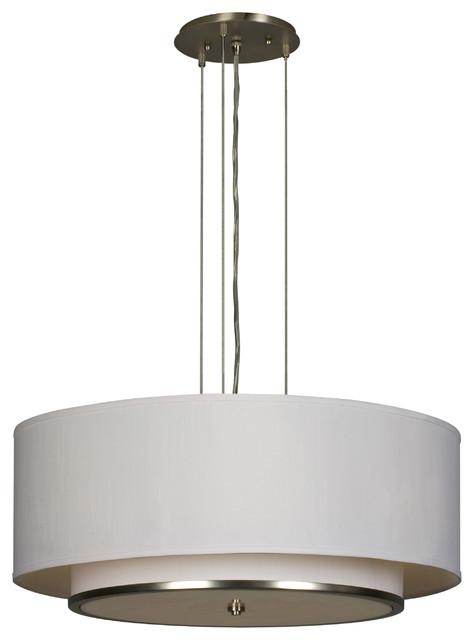 AFX Lighting DYP420SNSCTD Satin Nickel Dayton Pendant contemporary-pendant-lighting