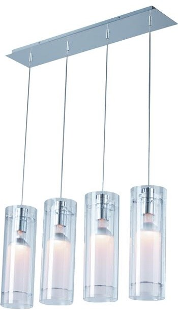 ET2 Lighting E22001-10 4 Light Pendant Frost Collection contemporary-kitchen-island-lighting