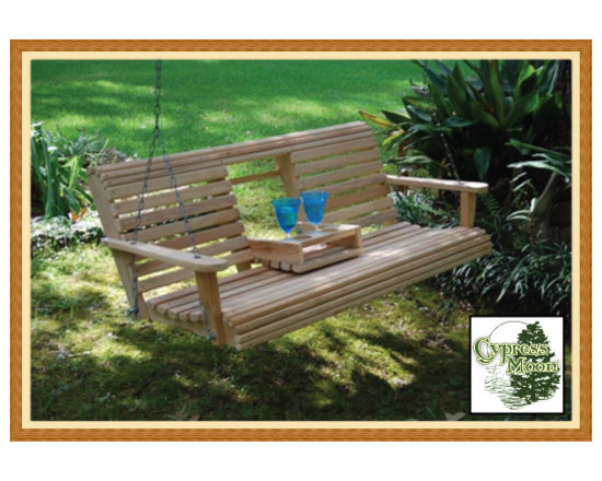 Porch Swings with flip-down Console -