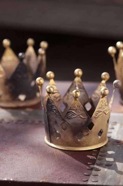 Metal Crown Votive Candleholders By Mothology