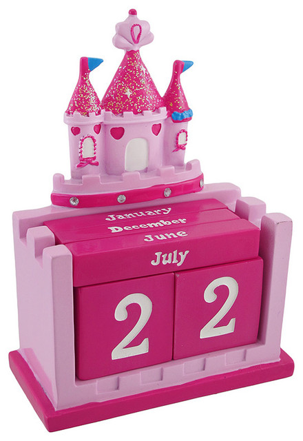 Pink Princess Castle Perpetual Calendar Set Contemporary