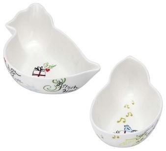 Lenox 12 Days of Christmas Dessert Bowls - Set of 4 modern-bowls