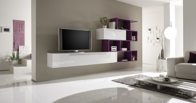 Modern Wall Unit TV Media Entertainment Center Jazz ...