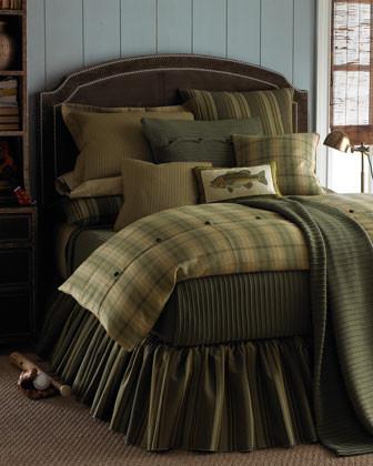 Daniel Stuart Studio Lancaster Bed Linens King Pleated Knit Blanket, 110 x 88 traditional-bedding