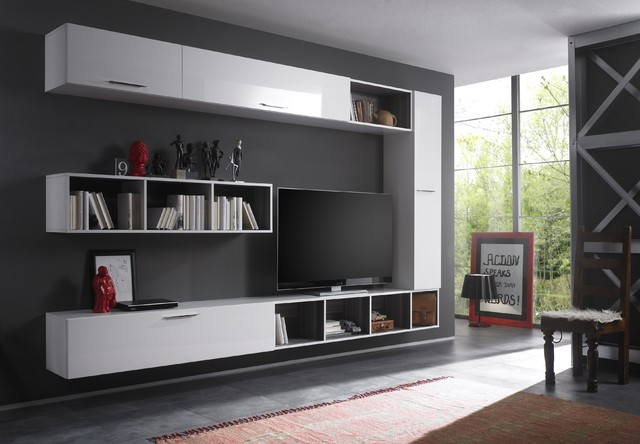 Modern Wall Unit TV Media Entertainment Center Club Composition 8 - $ ...
