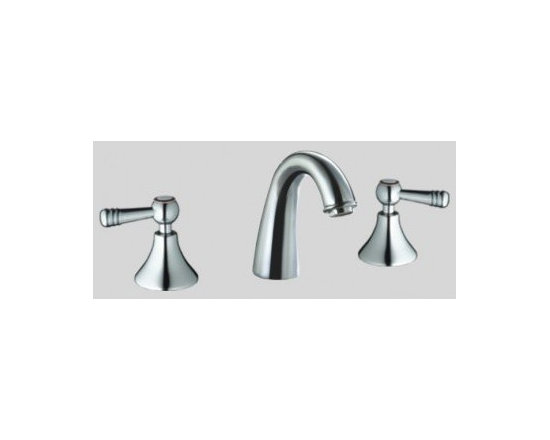 Dawn 3-Hole Widespread Lavatory Faucet with Lever Handless AB12 1018 -