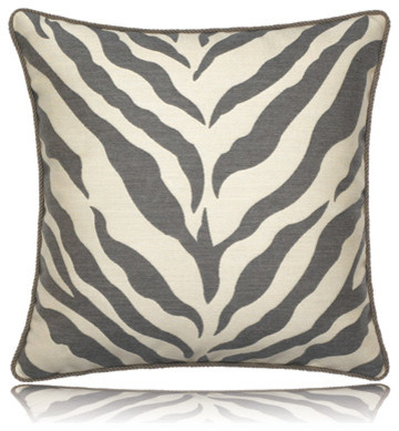 taupe zebra pillow (20x20) - contemporary - pillows - by Thos. Baker