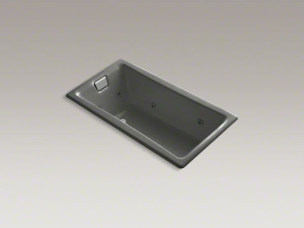 """KOHLER Tea-for-Two(R) 60"""" x 32"""" drop-in whirlpool with reversible drain and heat contemporary-bathtubs"""