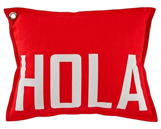 Hola Throw Pillow -