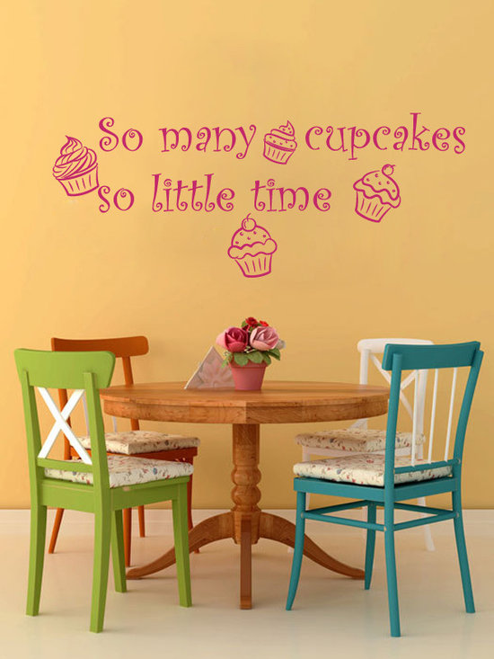 Vinyl Decals So Many Cupcke so Little Time Home Wall Decor Removable Sticker Mur -