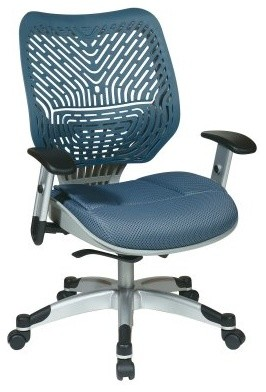 Office Star Unique Self Adjusting Blue Mist SpaceFlex Back and Raven Mesh Seat M modern-office-chairs