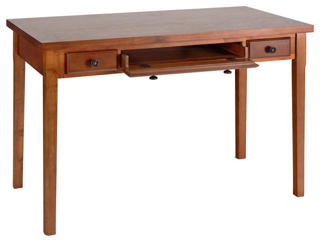 Jackson Desk, Mahogany - Transitional - Desks And Hutches - by Shop Chimney