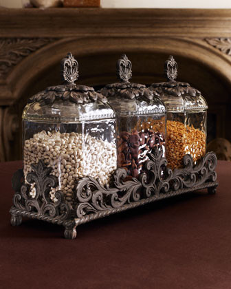 GG Collection Three Glass Canisters traditional-food-containers-and-storage