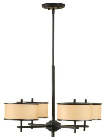 Murray Feiss Casual Luxury Chandelier - 26W in. Dark Bronze contemporary-chandeliers
