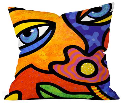 """Lilli Lilligrin"" Accent Pillow contemporary-decorative-pillows"