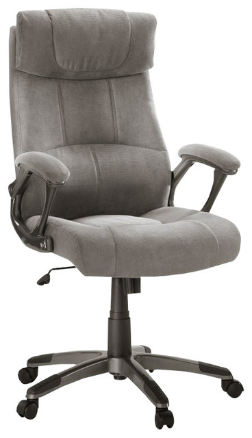 Sauder Executive Chair Fabric Gray In Chair Gray Transitional Office Chairs