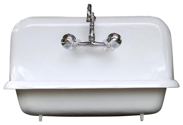 ... Cast Iron Farmhouse Sink Professionally Refinished farmhouse-kitchen
