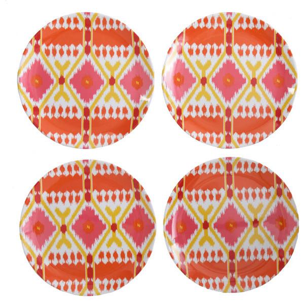 Ikat Melamine Plates mediterranean-plates
