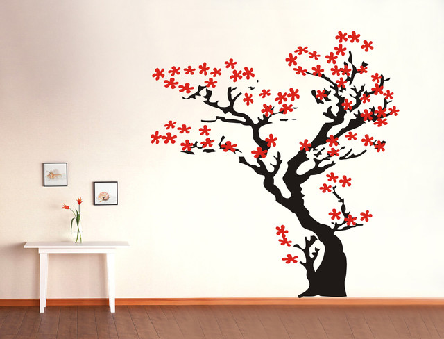cherry blossom tree wall decals stickers