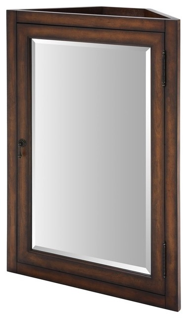 "Xylem-MC-CARLTON-24BN Carlton 24"" Medicine Cabinet for Corner Vanity in Antique - Traditional ..."