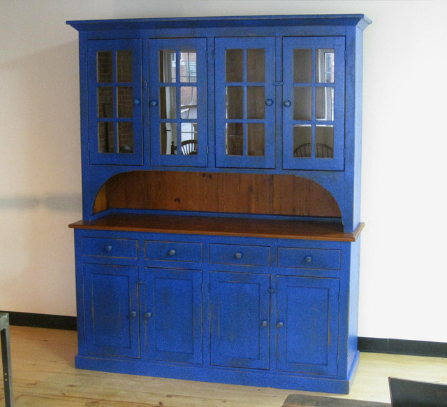 Large Reclaimed Wood Hutch - Eclectic - China Cabinets And Hutches - boston - by LakeandMountainHome