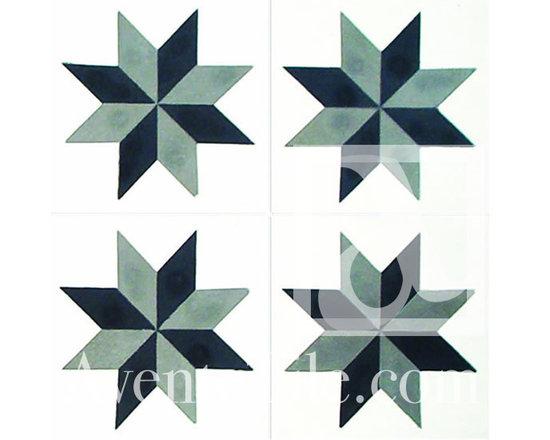 "Geometric Geo 16 Cement Tile 8"" x 8"" -"