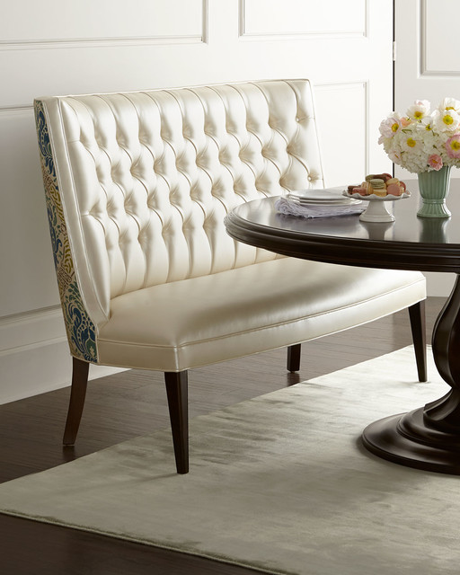 Tiffany banquette white contemporary dining chairs for Tiffany d dining room