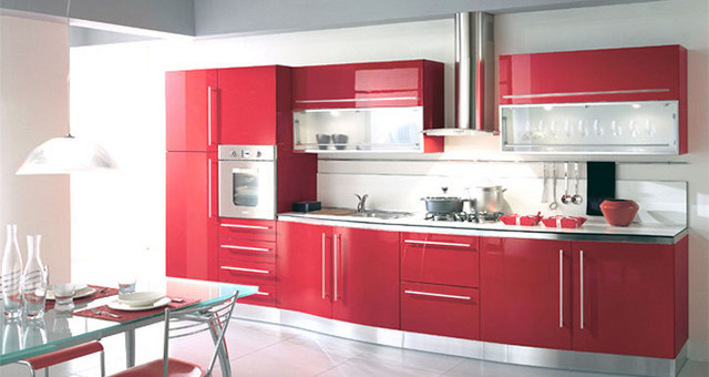 Lacquer Kitchen Cabinets by Fiamberti modern kitchen cabinets