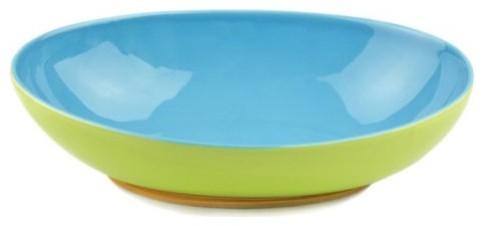 OmniWare Hemisphere Oval Serving Bowl - Green/Aqua modern-serving-and-salad-bowls