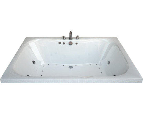 Spa World Corp - Atlantis Tubs 4860NDL Neptune 48x60x23 Whirlpool Jetted Bathtub - The Neptune encompasses a cutting edge design, it's smooth contours embrace you tight while having an ample bathing area. The Neptune can effortlessly accommodate two, while still offering all the luxuries of a peaceful spa experience. Lay back, relax and enjoy the massaging jets while the contours of the bathing interior caress your body.