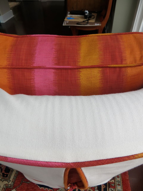 Slipcover - Armless chair with bright details - philadelphia - by Jeannine Petteruti