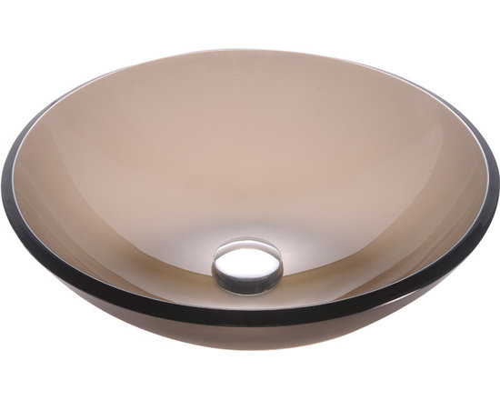Kraus GV-103FR Frosted Brown Glass Vessel Sink - Kraus GV-103FR Frosted Brown Glass Vessel Sink