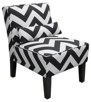 Black ZigZag Armless Slipper Chair modern chairs