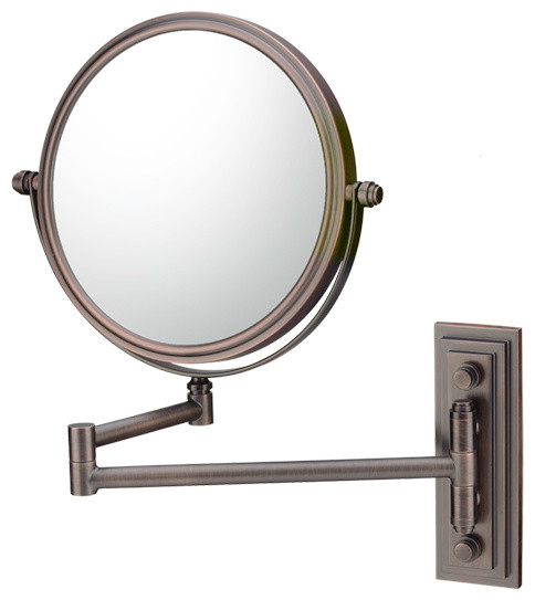 Simple  Chicago 26Inch Transitional Bathroom Mirror  White Washed Walnut