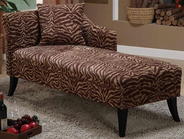 Armen living patterson tiger chenille chaise for Armen living patterson chenille chaise lounge