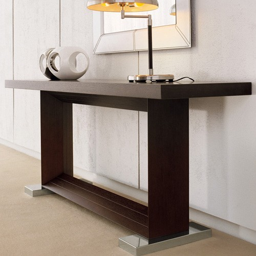 Cattelan italia monaco console table 70 inch modern for Coffee table 70 x 70
