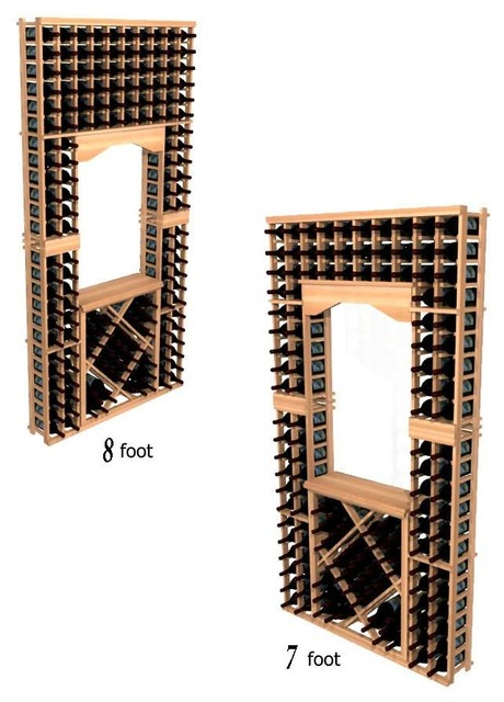 Winemaker Series Individual's with Open Diamond Bin (archway & table top sold se traditional-wine-racks